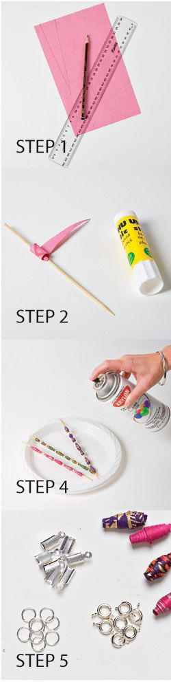Make your own paper bead jewellery - Different styles of bead designs