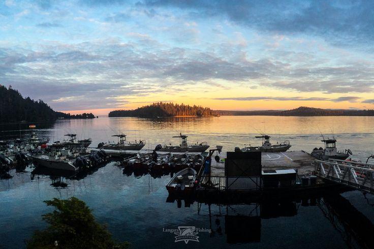 Setting sun lights up Parry Pass | by Langara Fishing Adventures