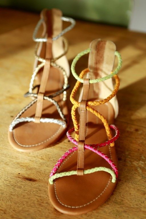 Aaliyah bronze and neon leather sandals www.jamjam.com.au #leathersandals #gladiatorshoes #sandals #ladiesshoes #womensshoes #summershoes