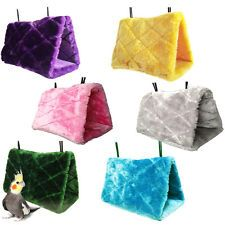 17x16x12cm Warm House Tent Bed Bird Hanging Cave Cage Plush Toy Parrot Hammock