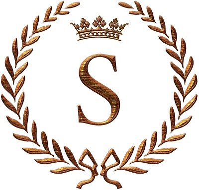 Napoleon Initial Letter S Monogram Invitations Sezz S