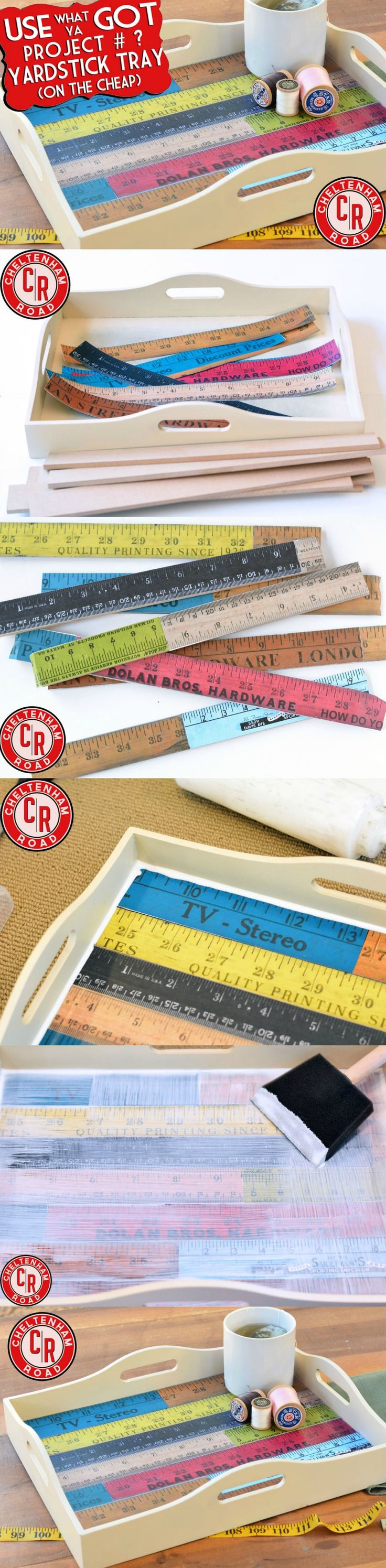 Amazing DIY Yardstick Tray With Printables