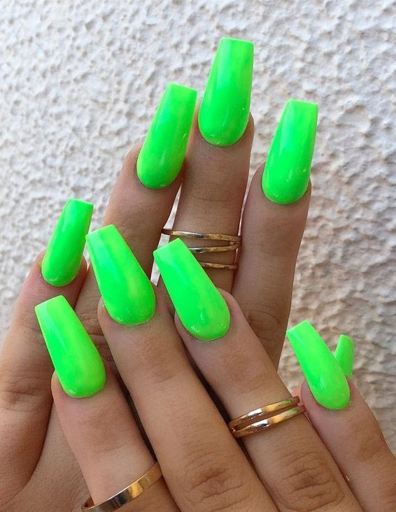 Best Nail Art Styles To Update Your Look In 2019 Neon Acrylic