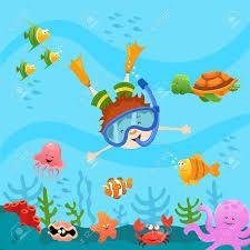 Resultado de imagen para scuba diving kid, print