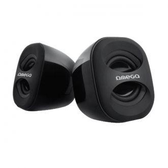Omega OG115 to kompaktowych rozmiarów, atrakcyjnie wyglądające głośniki zasilane z portu USB. Głośniki zaskakują wysoką jakością i siłą dźwięku. Dzięki zasilaniu z portu USB głośniki nie przegrzewają się i nie wymagają osobnego zasilacza - co pomaga utrzymać porządek i jest wygodne w podróży lub podczas przenoszenia głośników. Z boku posiadają regulację głośności.  Produkt w kolorze czarnym.