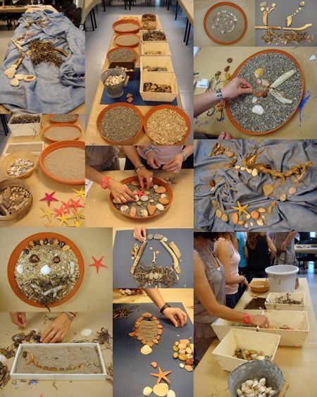 Texture with loose parts....and young children love texture. I am not sure I would use this with older students.