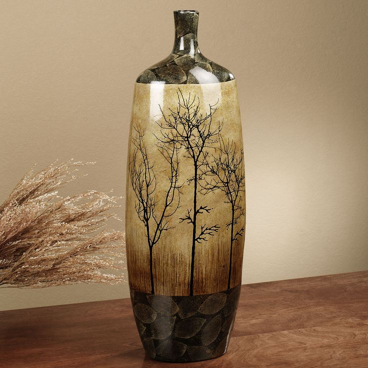 Bare Trees Floor Vase Multi Earth: Calm Ambienc, Trees Ceramics, Multi Earth, Floors Vase, Ceramics Floors, Trees Floors, Ambienc Suitabl, Bare Trees, Rooms Decor