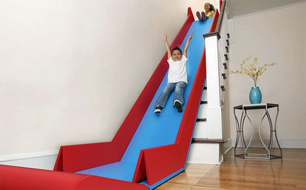SlideRider superrr!!! Trap glijbaan! Stairs slide!