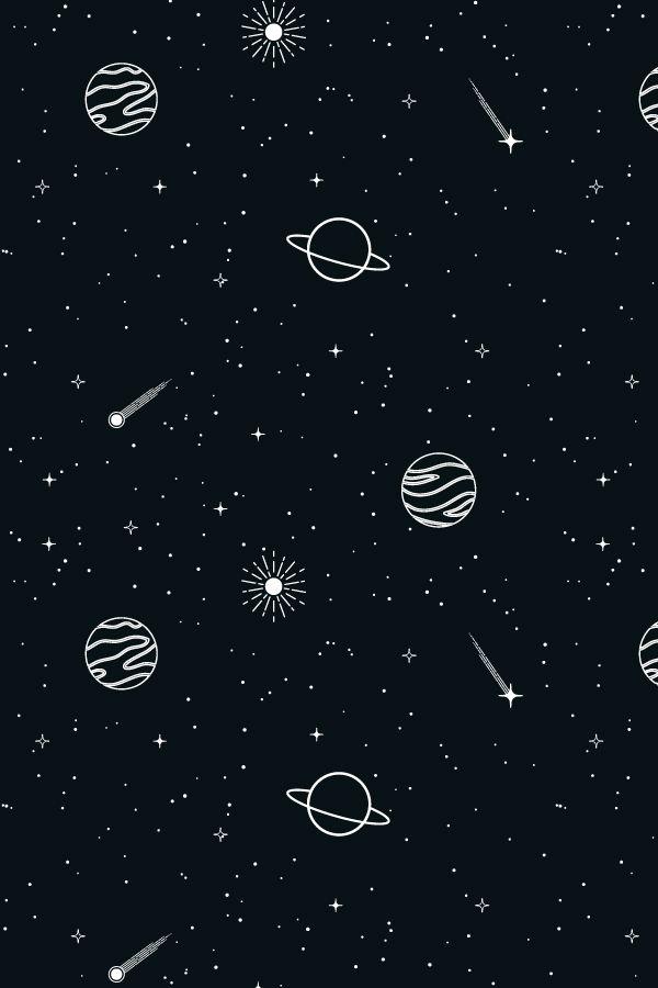 Celestial Seamless Patterns Planets Wallpaper Gold Wallpaper Iphone Dark Wallpaper