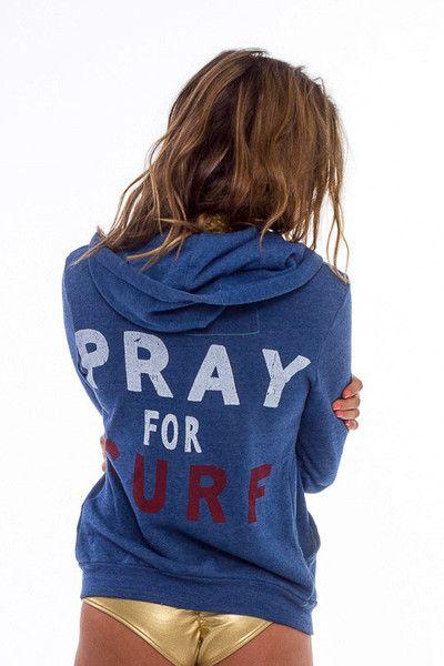 PRAY FOR SURF HOODIE - ROYAL