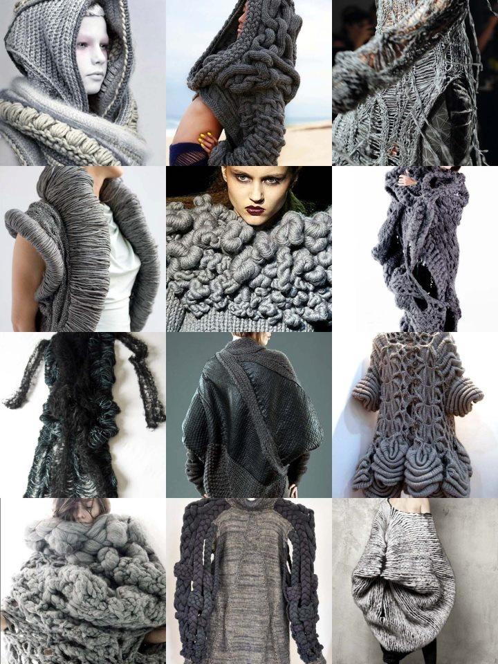 charcoal grey chunky knits
