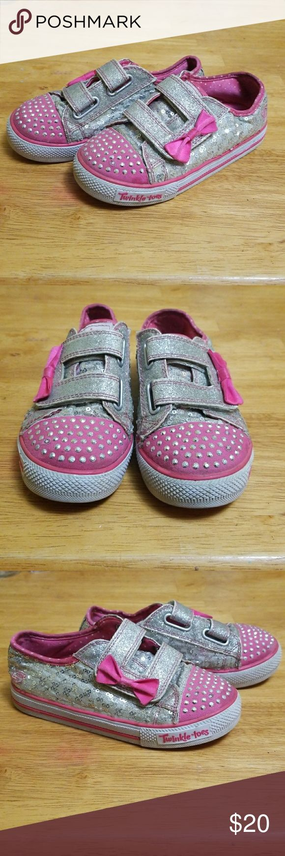 Girls Sketcher Sneaker Light Up Shoes Used.  In great condition. Lights work! Skechers Shoes Sneakers