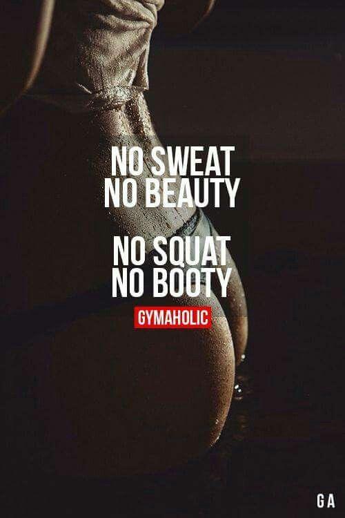 No sweat no beauty