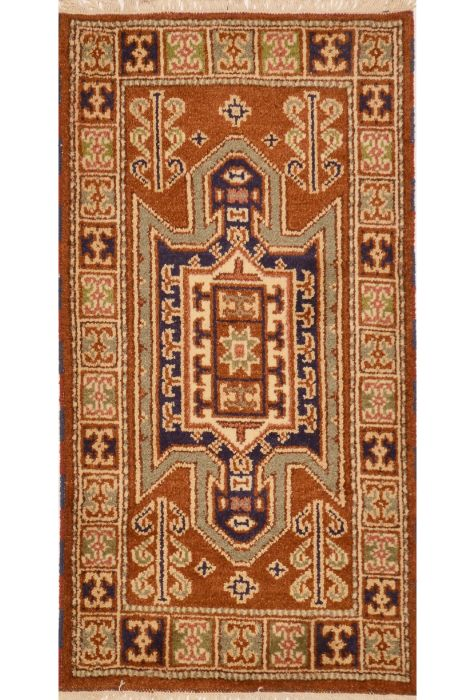 Heriz Indian Rug Wool Hand Knotted 61 X 117 Http