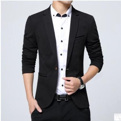 2b98b0758b11 Mens Plus Size Small Suit Jacket Single Button Male Spring And Autumn  Blazers Casual Blazer Jackets