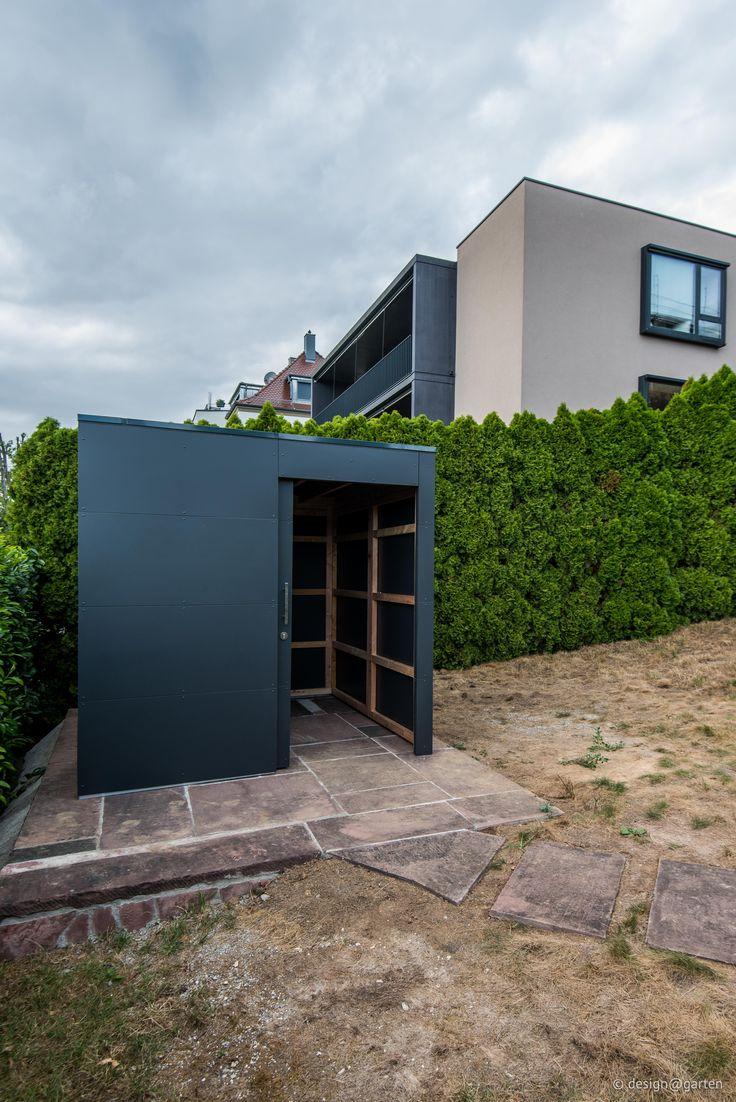 Deisgn #Gartenhaus by design@garten, Augsburg | Anthrazit #HPL-Fassade - niemals streichen