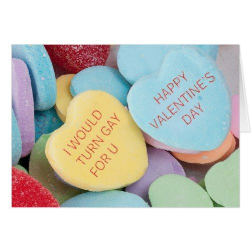 Funny Rejected Candy Hearts Valentineu0027s Day Card