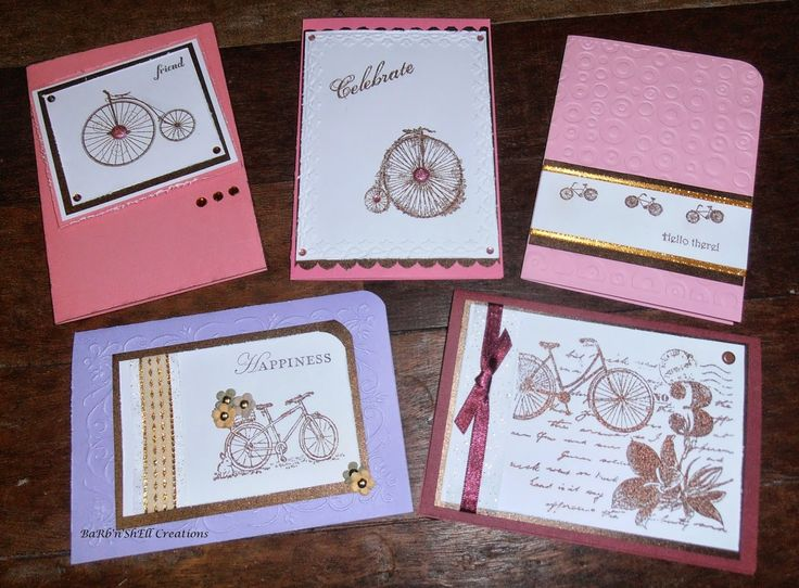 BaRb'n'ShEllcreations  - Stampin Up Bicycle images - cards created by Shell for…