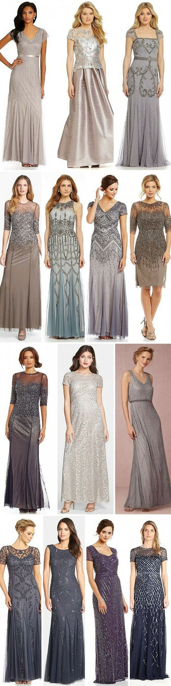 Adrianna Papell Mother of the Bride Dresses - Beaded Dresses