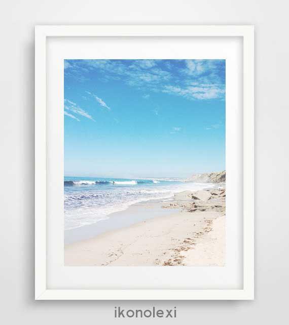 Beach wall art, ocean art, nautical decor, beach photography, modern wall art, cool posters, coastal wall art, seaside art, cheap art prints by Ikonolexi on Etsy