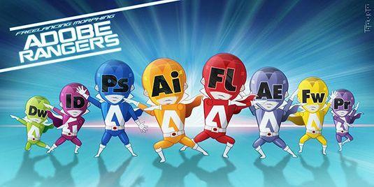 Morfosis Amigos Freelancers #Adobe Rangers!!! | ChistesparaDG
