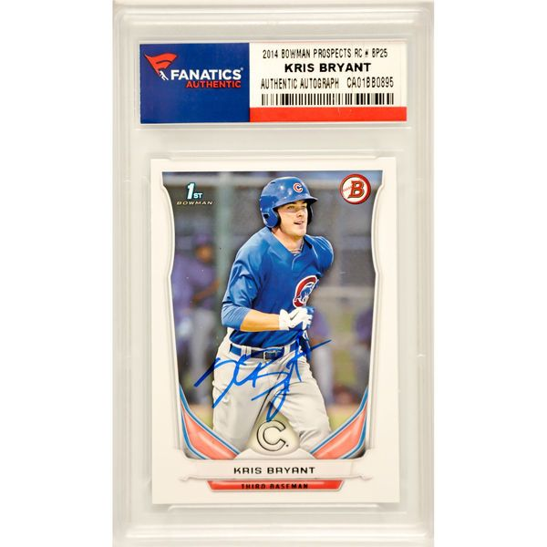 Kris Bryant Chicago Cubs Fanatics Authentic Autographed 2014 Bowman Prospects Rookie #BP25 Card - $229.99