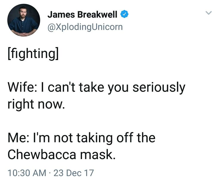 I'd be the one with the mask.