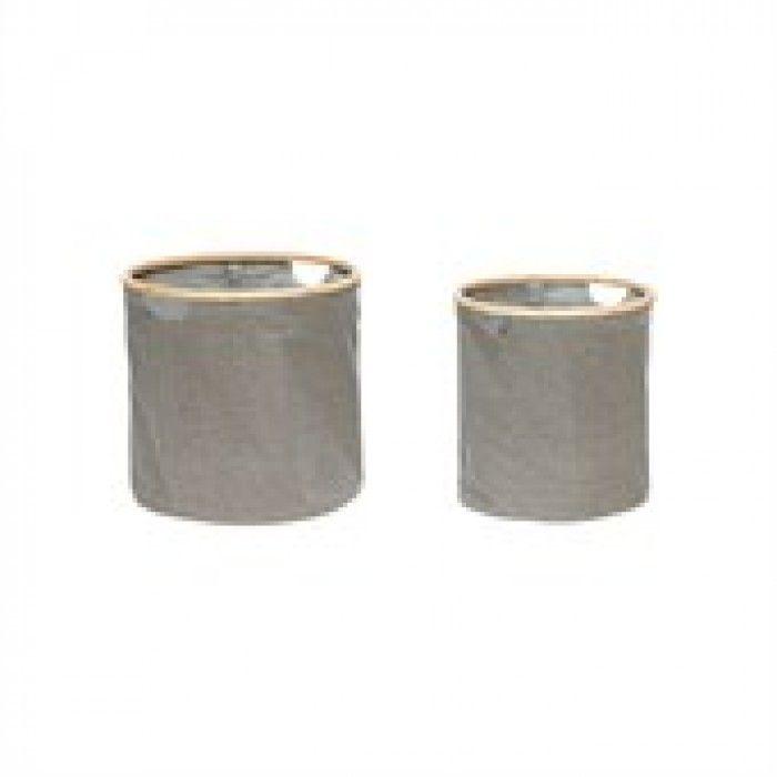 Kurv med bambus som kan brukes som skittentøyskurv, til planter, resirkulering eller klær . Diameter 38cm x høyde 40cm