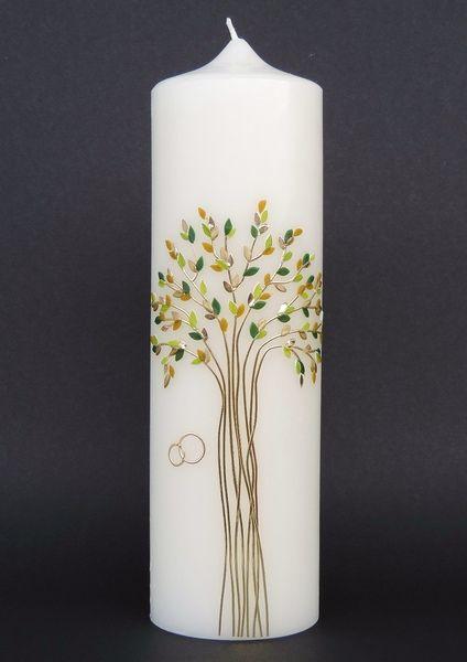 Hochzeitskerze Nr.107 von CERA-Kerzen auf DaWanda.com