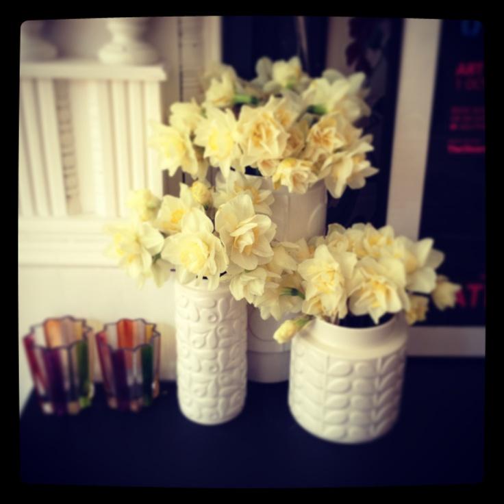 Spring has arrived! Loving these Orla Kiely vases.