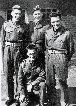 British Actor Anthony Hopkins on the right, did his National Service in the British Army during the 1950s.
