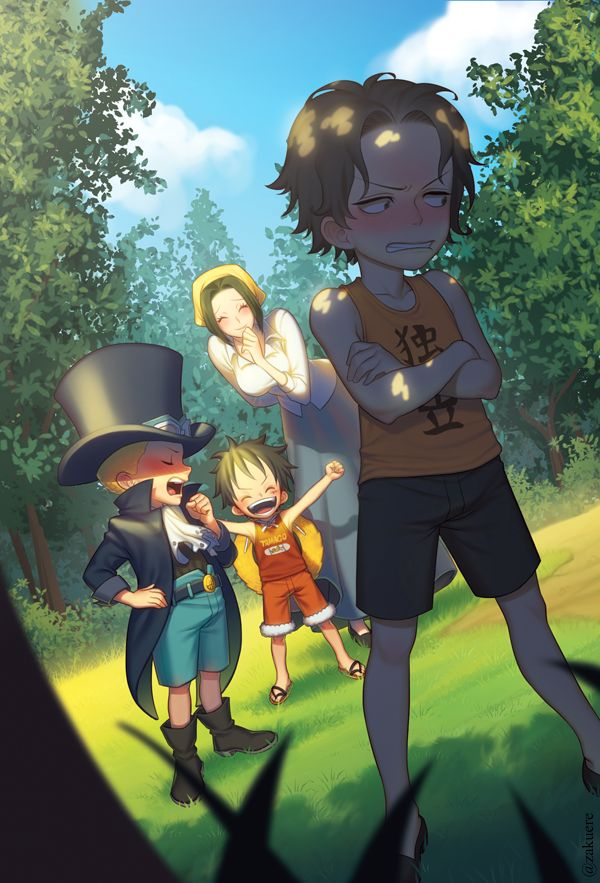 ASL Brothers Portgas D Ace Sabo Monkey D Luffy Makino One Piece