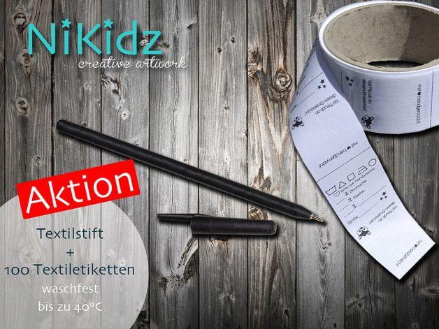 Weiteres - 100 Textiletiketten  + Textilstift AKTION - ein Designerstück von NiKidz bei DaWanda