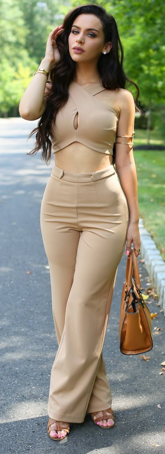 Mixed Neutrals Fall Outfit (Mix Women Beautiful)