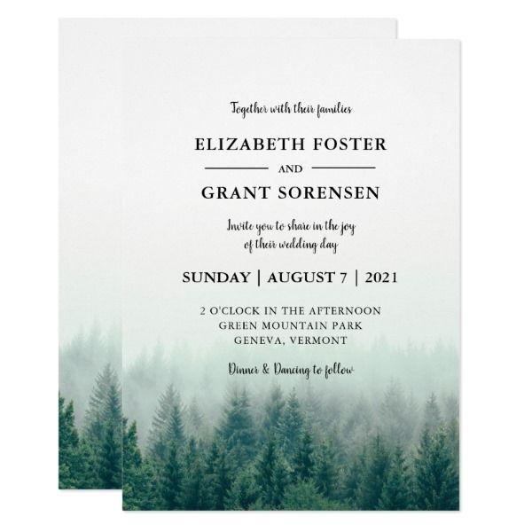 Forest Wedding Invitations Rustic Wedding Invitations Org Forest Wedding Invitations Forest Wedding Beach Wedding Invitations
