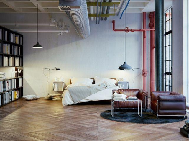 Chambre Loft D Co Industrielle Industrial Decor Pinterest Loft Photos Et D Coration