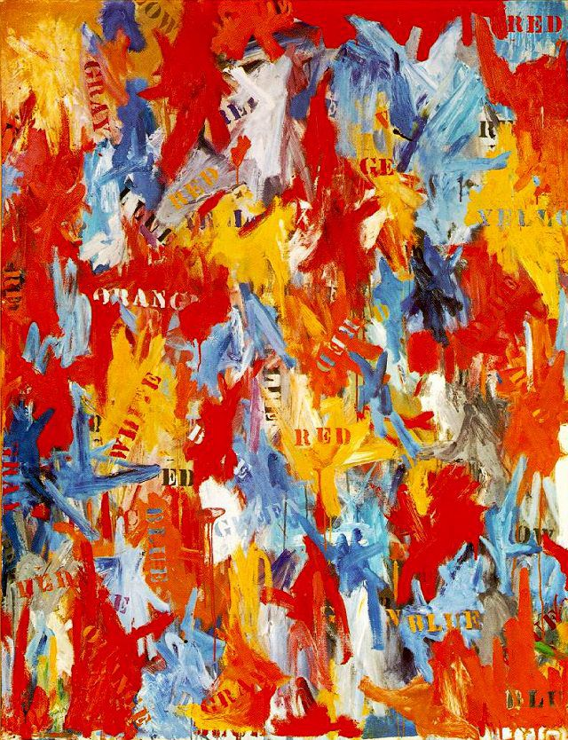 JASPER JOHNS. False Start. 1959.