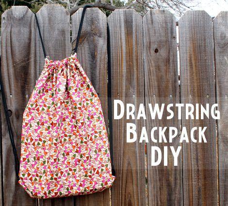 Cómo hacer una mochila de tela casera tipo saco | DIY | Pinterest ...
