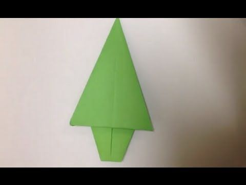 Faire un sapin en origami - Décoration de Noël - YouTube