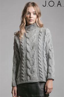 """Вязаный свитер с длинным рукавом и узором """"косичка"""" J.O.A"""