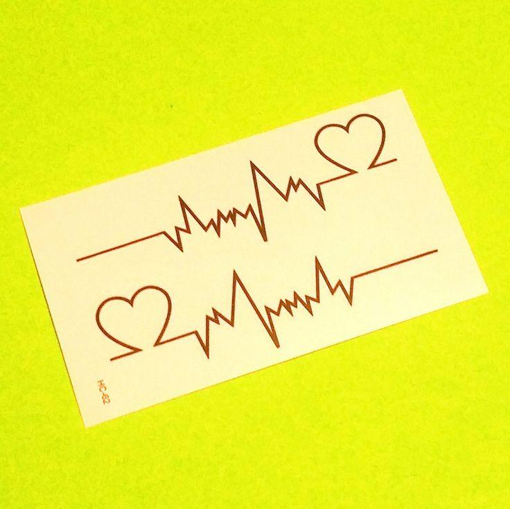 V-Fib Heart Temporary Tattoo