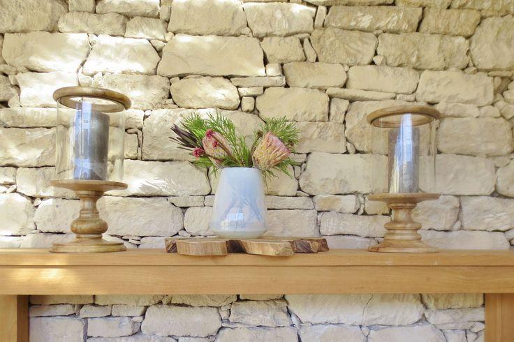 Proteas and flowers for decor at Ocean House, Morukuru. #OceanHouse #DeHoop #SouthAfrica #decor #design #Africa #protea