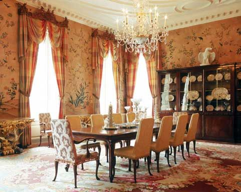 Drapes In The Dining Room