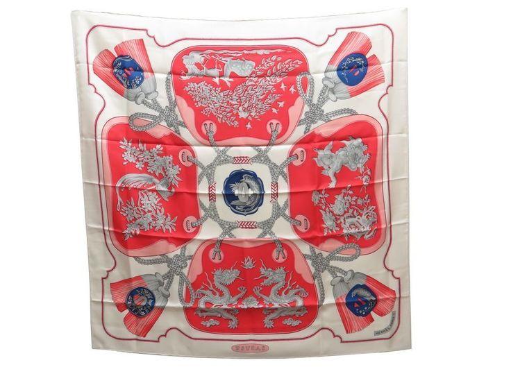FOULARD HERMES TSUBA VAUZELLES CARRE EN SOIE AVEC BOITE & SAC SILK SCARF 350€ | Vêtements, accessoires, Femmes: accessoires, Echarpes, châles | eBay!