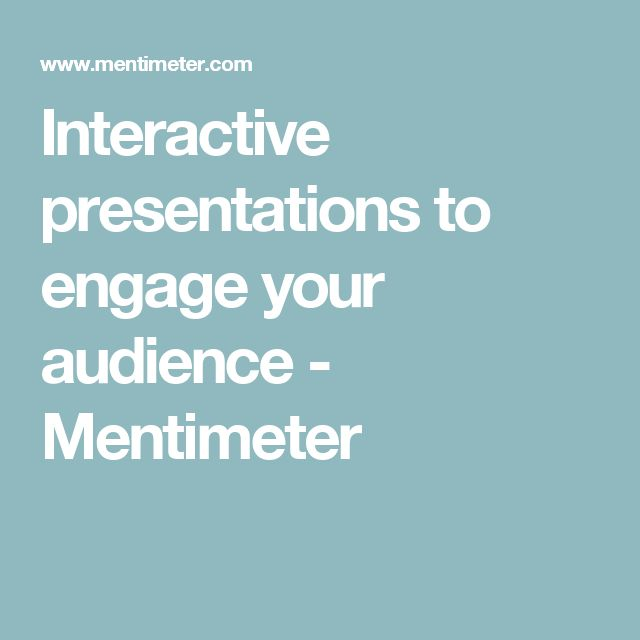 Interactive presentations to engage your audience - Mentimeter