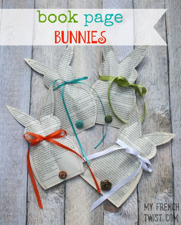 book page bunnies at myfrenchtwist.com #bunnies