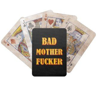 Bad mother fucker blood splattered vintage quote card deck #bad #mother #fucker #pulp #fiction #movie #quote #badass #mofo #humor #funny #blood #vintage #gift #accessories #stuff