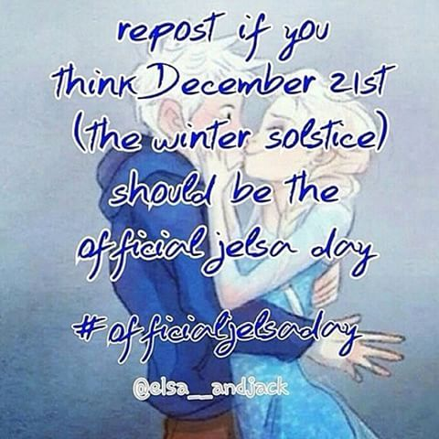 YES!!! OFFICIAL JELSA DAY!!!! #elsa #jackfrost #jelsa #day #jelsaday #thewintersolstice #officialjelsaday #YES #love #this #lovethis #it #loveit