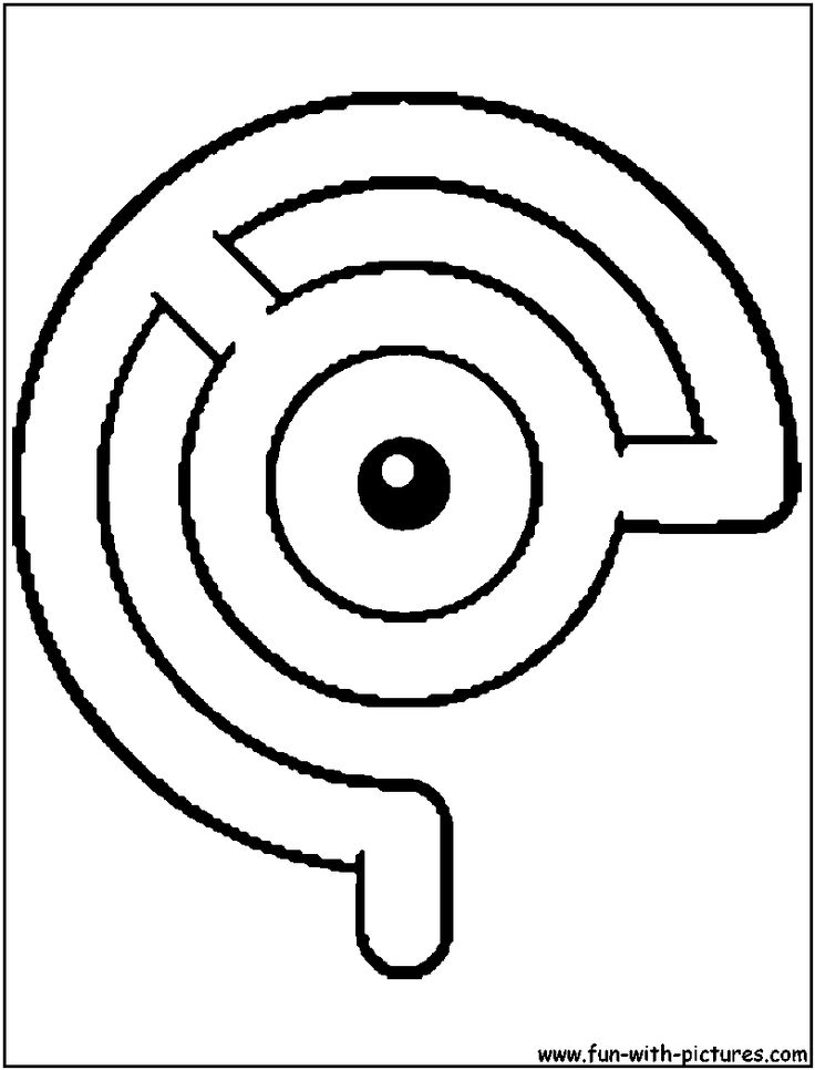pokemon unown c coloring page - Color Drawing Book