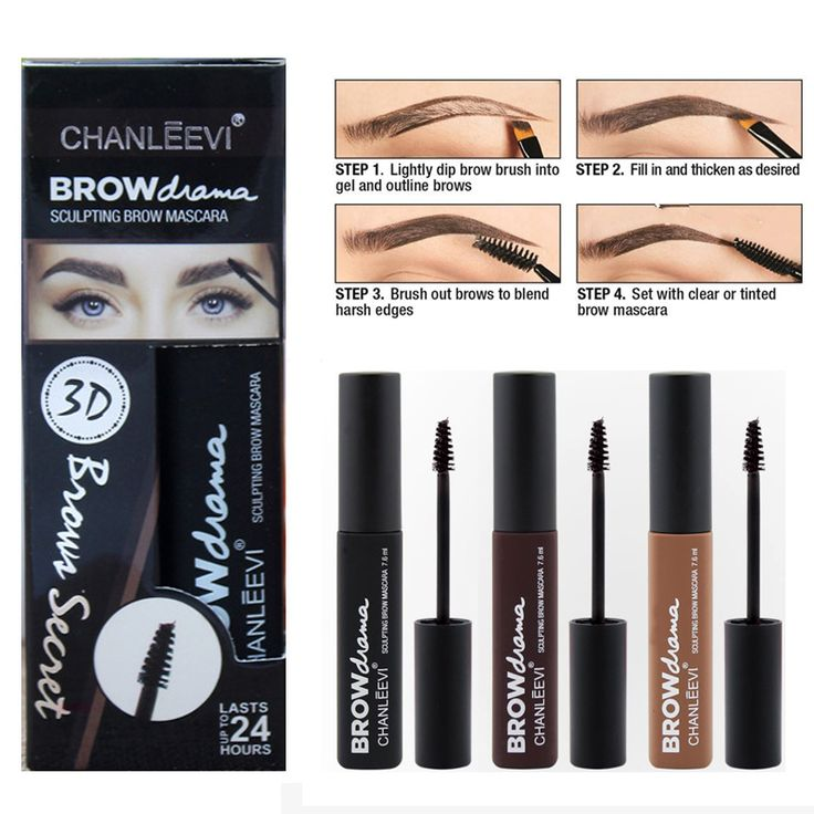 Professional Eyebrow Tattoo Pencil Eye Make Up Waterproof Natural Pigment Black Brown Color 3D Eye Brow Mascara